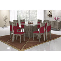 Conjunto De Mesa Ipê Com 8 Cadeiras - Mobisul