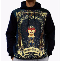 Blusa De Frio Printfull Indian Girl Tattoo Moleton Unissex