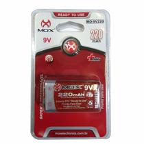 Bateria 9v Recarregável Mox Mo-9v220 220 Mah