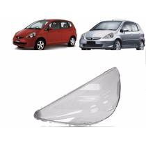 Lente Farol Honda Fit Esquerdo 2003 2004 2005 2006 2007 2008