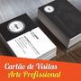 Cartão De Visitas 4x4 - Arte Profissional