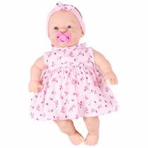 Boneca Baby Fofinha Vestido Fala 106 Frases Diver Toys 673