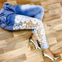 Sawary Calça Jeans Feminina Levanta Bumbum Com Lycra Sabrina