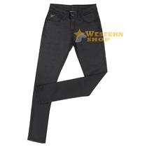 Calça Jeans Encerada Feminina Skinny Cintura Baixa - Wrangle