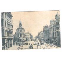 Rj124 Postal Circulado 1907 Rio De Janeiro Avenida Central.