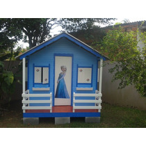 Casinha Para Crianças, Madeira, Telha Ecológica Pvc, Tam G.