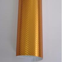 Adesivo Carro Moto Fibra Carbono Cromado Bronze Ouro 34x50cm