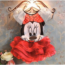 Vestido Conjunto Minnie Infantil Tutu - Pronta Entrega