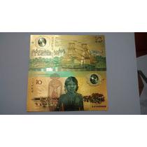 10 Dolares Australianos 1988 Estampado A Ouro 0,99999999%
