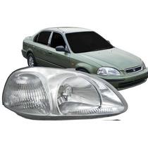 Farol Honda Civic 1996 1997 1998 - Direito