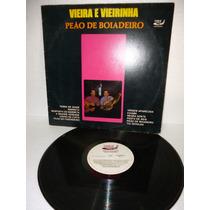Vieira E Vieirinha Peão De Boiadeiro Lp Raro 1991