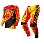 Kit Calça E Camisa Fox Mxon 360º (calça 42 Camisa G) Yellow