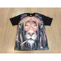 Camiseta Masculina Com Leão Do Reggae