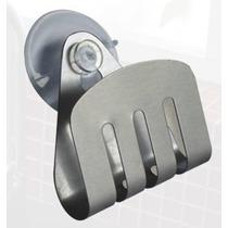 Porta Esponja Em Inox P/ Pia - Fixação Ventosa