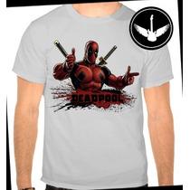 Camiseta Deadpool Baby Look Filme Marvel Herói Blusa