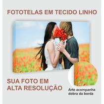 Foto Tela Canvas/linho Quadro Personalizado Foto 90 X 58 Cm