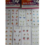 Kit 10 Cartelas Adesivos Unhas Decoradas Películas Artesanal
