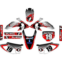 Kit Adesivos Grafico Moto Crf 230 Ano 2015 Crfmd07 Ims Red1