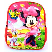 Mochila Infantil Minnie Mouse Minie Disney Linda 3d