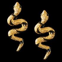 Brincos Femininos Cobra Folheados 3x Ouro 18k Promoção