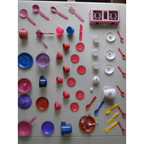55 Item Cozinha Boneca Criança Infantil Panelinha Fogãozinho