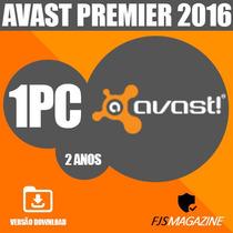 Antivirus Avast Premier 2016 1 Pc 2 Anos Original