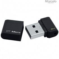 Pen Drive Datatraveler Micro 8gb Kingston Preto Frete Grátis