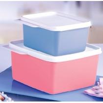 Basic Line Rosa + Azul Tupperware Pote Vasilha