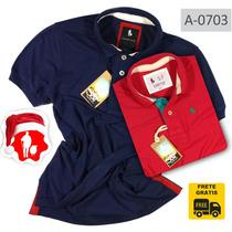 Camisas Kit Com 2 Polos Masculina Marca Grife Frete Gratis