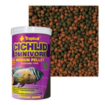 Ração Cichlid Omnivore Medium Pellet Tropical (360g)
