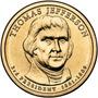 Estados Unidos - 1 Dolar - 2.007 - Letra P - Jefferson. Fr12