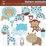 Kit Scrapbook Digital Animais Da Selva Imagens Clipart Cod16