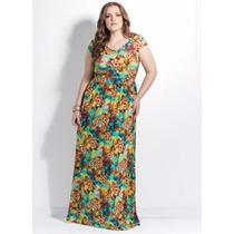 Vestido Longo Plus Size - Roupas - Malha Fria - Cores Vivas