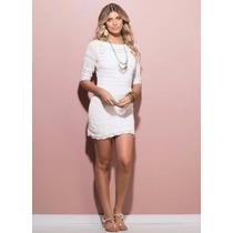 Vestido Branco Feminino Ano Novo Tricô - Roupa P M G Gg