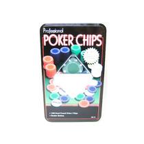 Kit 100 Fichas Poker Na Lata