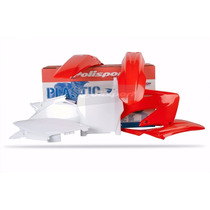 Kit Plásticos Honda Cr 125/250 2002-2007 Polisport Oem Red