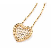 Rommanel Cordão Pingente Coração Dourado Love Femi 531484 P*