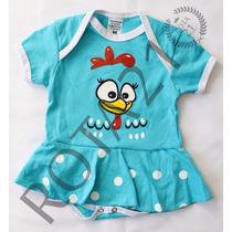 Body Fantasia Infantil Galinha Pintadinha C/ Saia Para Bebês
