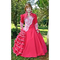 92fec35104 Vestido De Prenda Infantil 4-6-8 C  Saia Armação Mod. Laura à venda ...