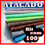 Kit 100 Panos Microfibra Flanela Lava Carro Gigante 30x50cm