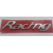 Emblema Racing Cromado Universal Gm Fiat Ford Vw