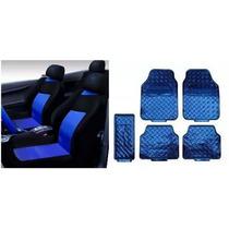 Corsa Sedan Classic Jogo Capa Banco +kit Tapete Azul