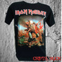 Camiseta Banda Heavy Metal Rock Iron Maiden The Trooper