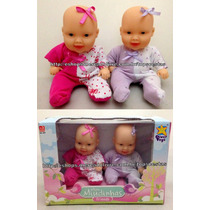 Bonecas Mini Miudinhas Friends Gêmeas Megie E Mia Divertoys