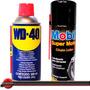 Kit Wd40 + Lubrificante Spray Corrente Mobil Super Moto 200