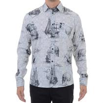 Camisa Masculina Mcd Caravelas Cinza