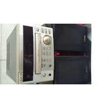 Mini Sistem Som Cd Md Teac Cr H100 Mais Caixas Leia
