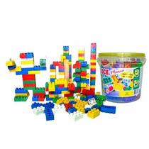 Balde De Blocos De Montar Com 156peças Brinquedo Educativo