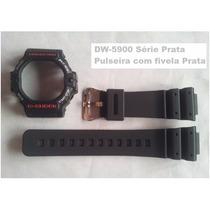 Kit Capa Bezel E Pulseira G-shock Dw-5900 Casio Bad Boys
