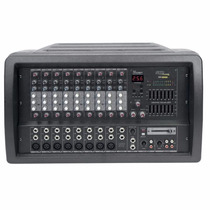 Mesa De Som Amplificada Skp Crx-1010 2 X 500w 10 Canais C/nf